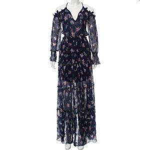 TRYB   Sheer Metallic Floral Dress